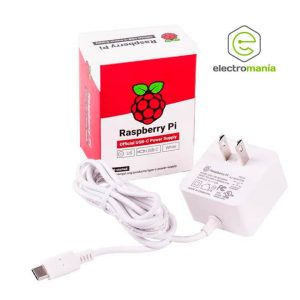 Fuente de Raspberry Pi 4 color blanco