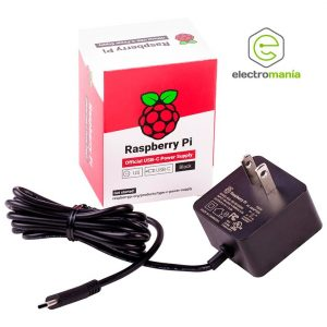 Fuente de Raspberry Pi 4 color negro