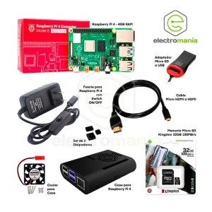 Kit Básico Raspberry Pi 4 4GB RAM Compatible