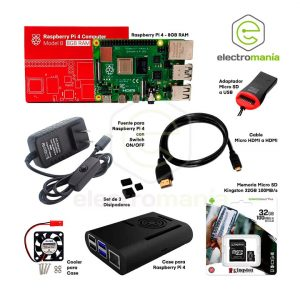 Kit Básico Raspberry Pi 4 8GB RAM Compatible